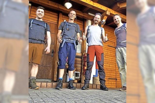 Die vier Gipfelstürmer