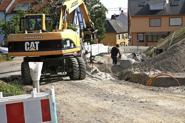Vorarbeiten für neues Bauland