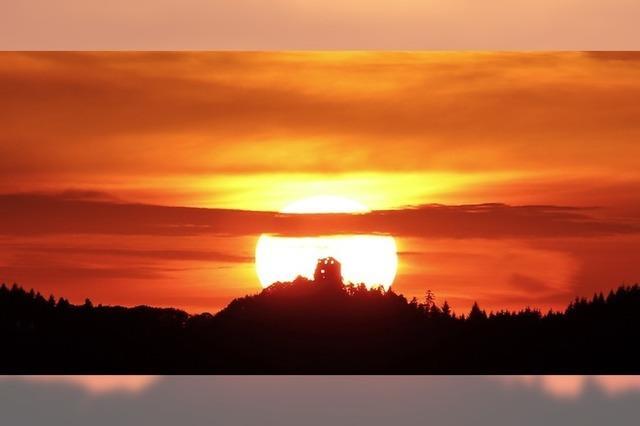 Sonnenwende über dem Schönberg