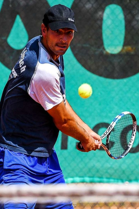 Unterlag Novak Djokovic in zwei Sätzen: Benjamin Rufer   | Foto: Gerd Gruendl