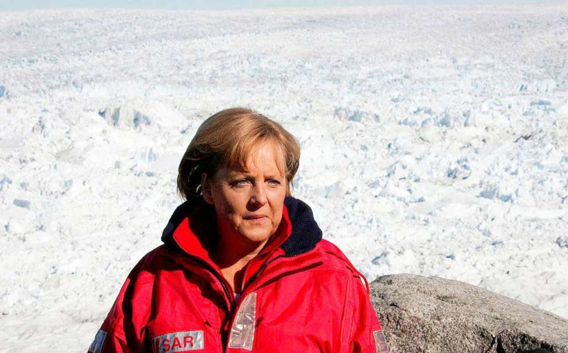 Bundeskanzlerin Angela Merkel 2007 in ...Jahre lang nichts für den Klimaschutz.  | Foto: Michael Kappeler