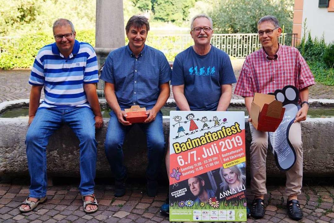 Die Besucher können sich auf das 28. B...weltreferent Ralf Däubler (von links).    Foto: Sara Göhring