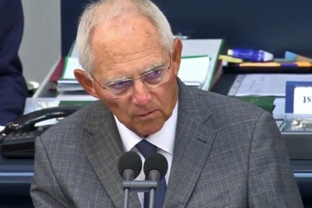 Schäuble zum Lübcke-Fall: