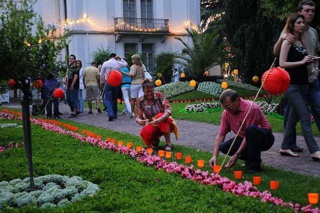 Beim Lichterfest im Stadtpark werden mehr als 8000 Besucher erwartet