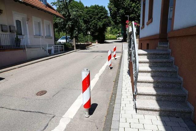 Der Ortschaftsrat ist gegen weitere Poller in der Straße Zum Schänkenbrünnle