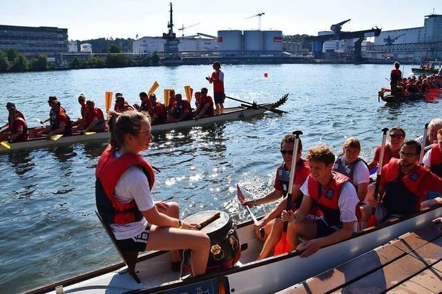 Am Wochenende entern Drachenboote den Rhein