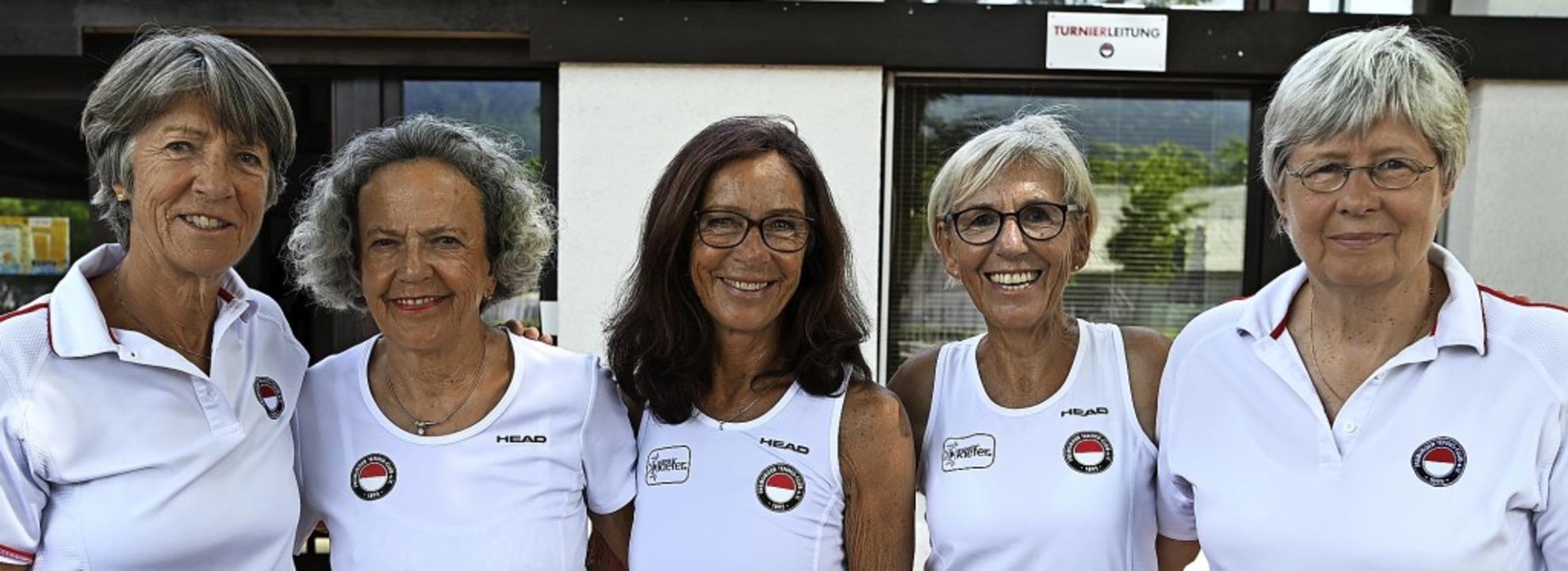 Eine Klasse für sich bei den Frauen 65...ike Oswald und Barbara Brandt-Nedelev   | Foto: Patrick Seeger