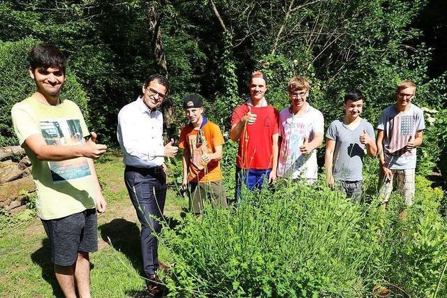 Lahrer Schüler kümmern sich um den Garten der Ökologiestation