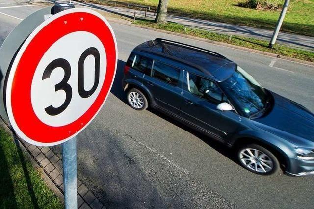 Tempo 30 in Friesenheim entlang der B 3 verzögert sich