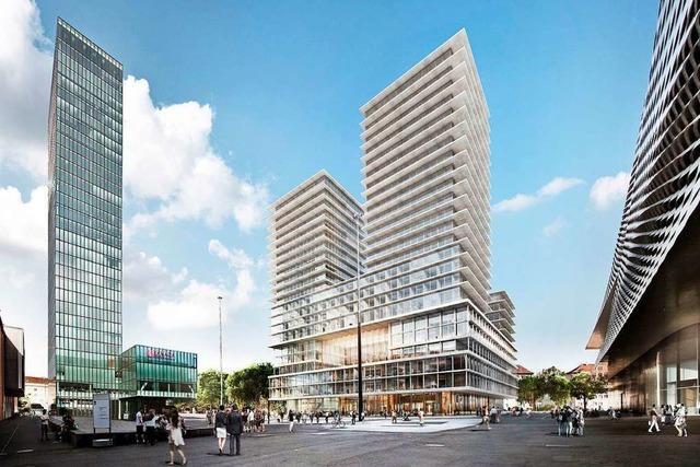 In Basel gibt es Streit um das geplante Hochhaus bei der Messe