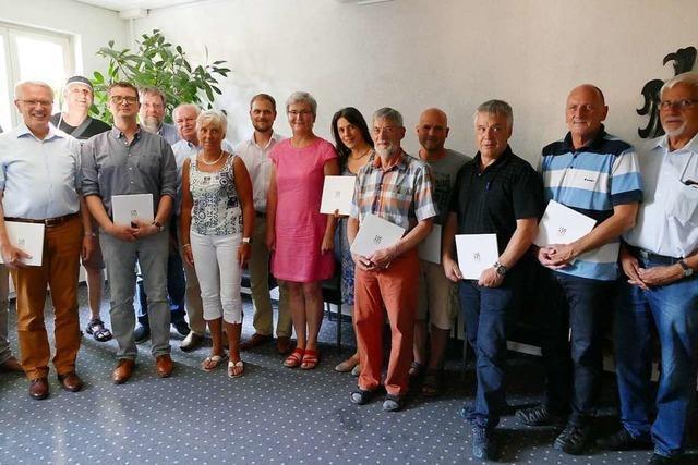 Zwölf Breisacher Gemeinderäte nehmen Abschied