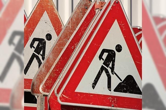 Schlechte Straße wird saniert