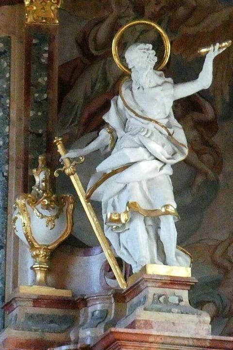 Paulus mit Schwert: So wird der Heilig...osterkirche von St. Peter dargestellt.  | Foto: Erik Kunz
