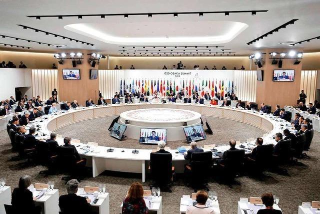 Die G20 veranstaltet in Osaka keinen Gipfel, sondern Speed-Dating
