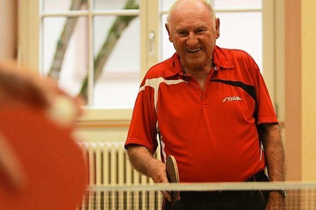 Johann Goldschmidt ist der älteste Tischtennisspieler der Region