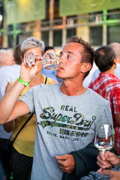 Weinfassbar der BZ in Oberrotweil    Foto: Fabian Rudolph