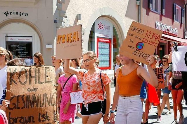 Fridays for Future in Lahr: Demonstranten blockieren Bundesstraße