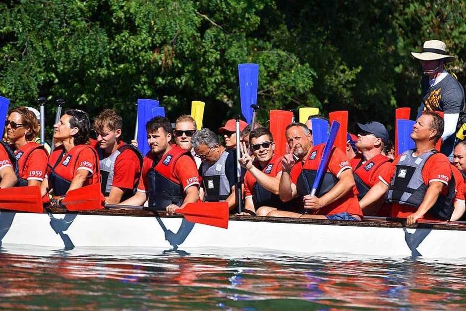Sport und Spaß auf dem Rhein, Impressionen vom Drachenbootrennen des Ruderclubs Grenzach (Foto: Martin Eckert)