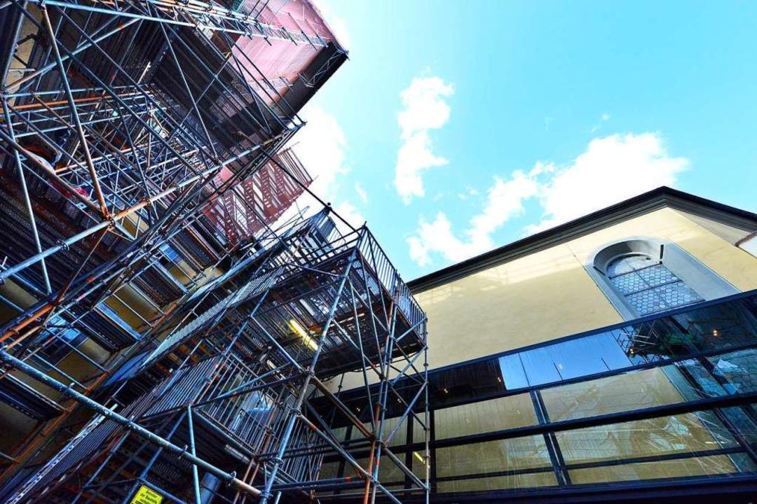 Das Augustinermuseum als Baustelle    Foto: Michael Bamberger