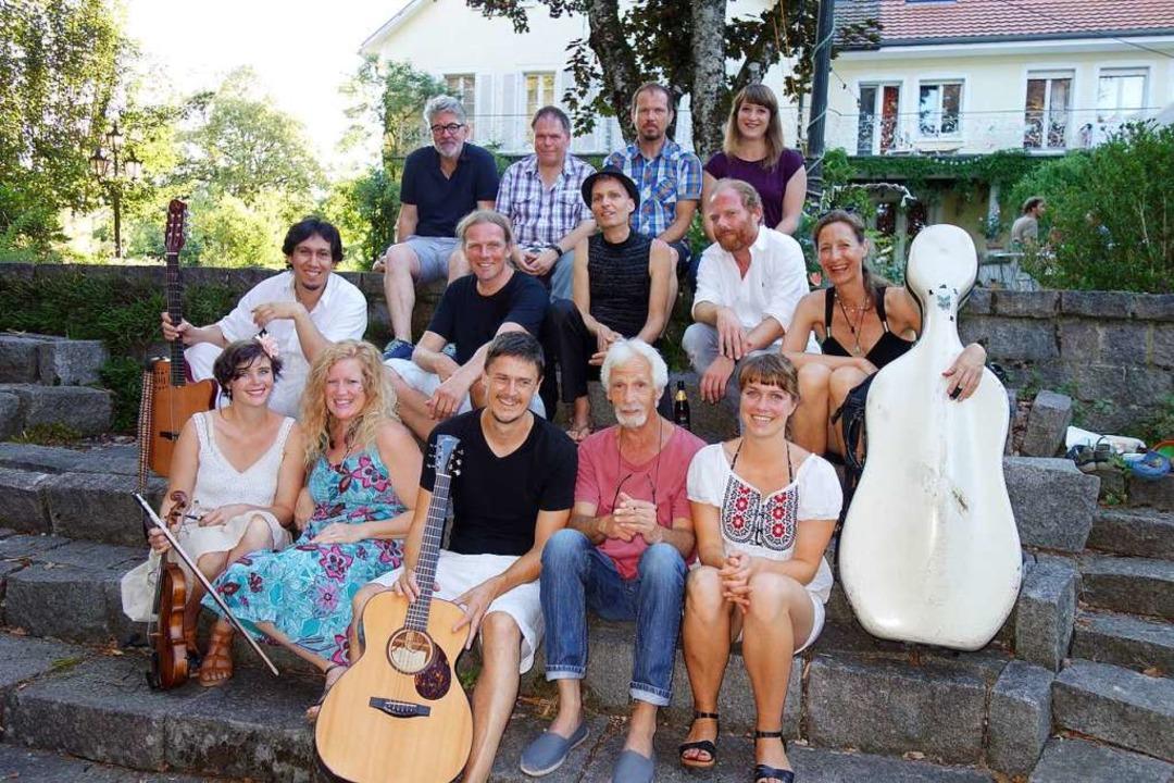 Singer-Songwriter Festival 2019 in Sch...lle Musiker posieren fürs Gruppenbild.  | Foto: Gudrun Gehr