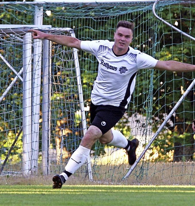 Zweifacher Torschütze: MIchael Eichhor...r 2:1-Führung für den SV Grafenhausen.  | Foto: Dieter Reinhardt