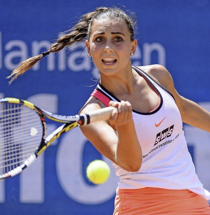 Julia Rauer gewann überraschend ihr Einzel.   | Foto: Sebastian Koehli