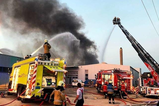 Nach Brand in Pratteln gibt es von deutscher Seite Kritik an der Kommunikation