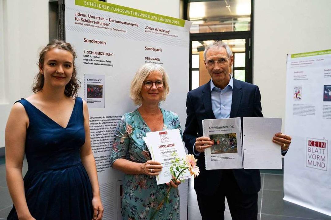 BDZV-Geschäftsführer Dietmar Wolff (re...elene Fuchs, Jugendpresse Deutschland.  | Foto: Foto: Jugendpresse Deutschland/Annkathrin Weis