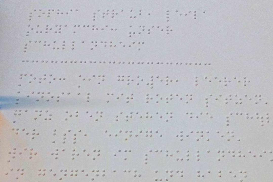 Schülerzeitung ist Braille-Schrift  | Foto: Schule