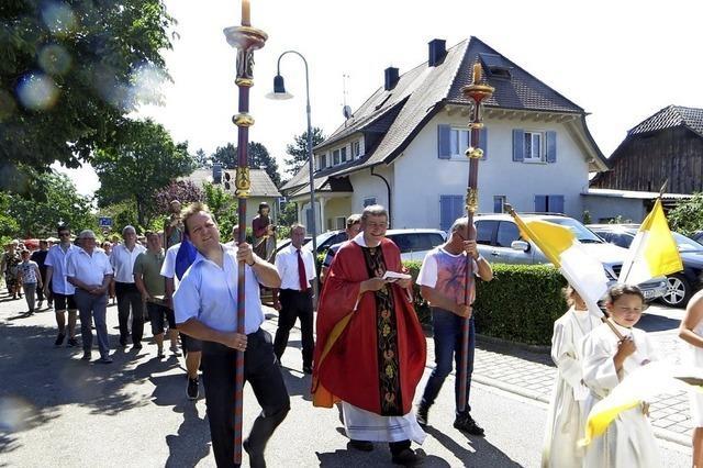Zwei Patrone in Hartheim geehrt