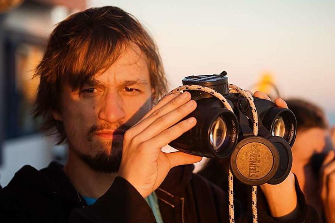Lorenz Schramm beim Navigieren  | Foto: Chris Grodotzki / jib collective