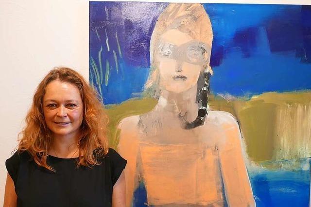 Im Alten Rathaus in Denzlingen sind Collagen und Porträts von Barbara Ambs zu sehen