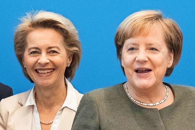 Von der Leyens Wechsel nach Brüssel brächte Merkel mehr Spielraum
