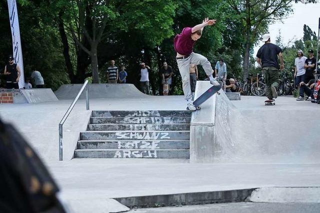 Am Samstag gibt es einen Skatecontest im Dietenbachpark