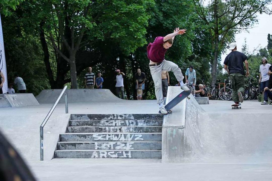 Wild Sprünge wird es am Samstag auf der Skateanlage des Dietenbachpark geben.  | Foto: Timo Enderle