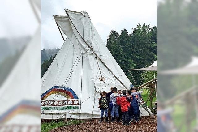 Leben wie die Indianer beim Landschulheimaufenthalt im Tipicamp