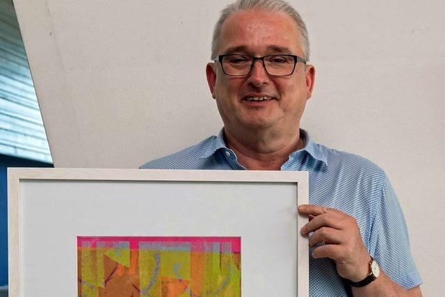 In Denzlingen sind Siebdrucke des Freiburger Künstlers Markus Franke zu sehen