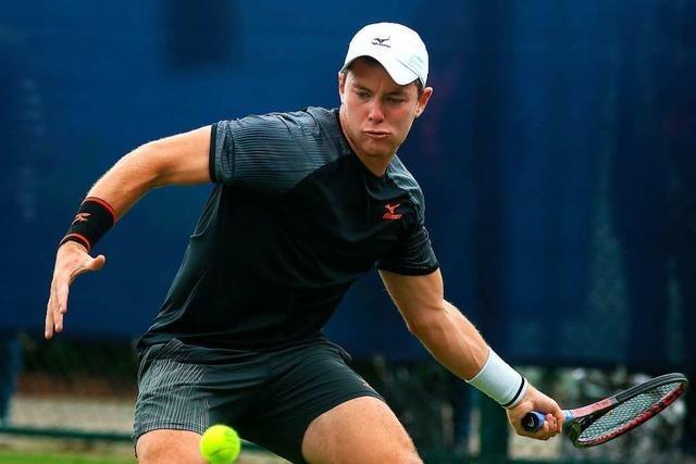 Schwarzwälder Tennisspieler trifft in Runde zwei auf Diego Schwarzman