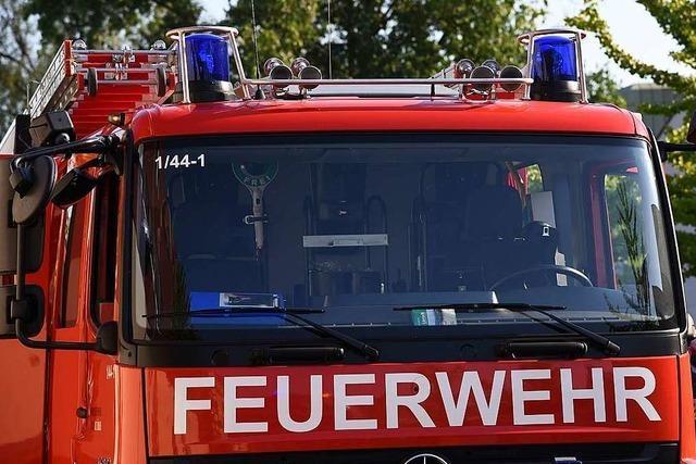 Kurzschluss sorgt für Feuerwehreinsatz in Lörrach