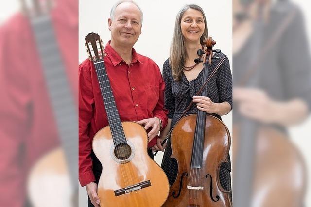 Geneviève Mégier (Cello) und Wolfgang Hillemann (Gitarre) in Badenweiler