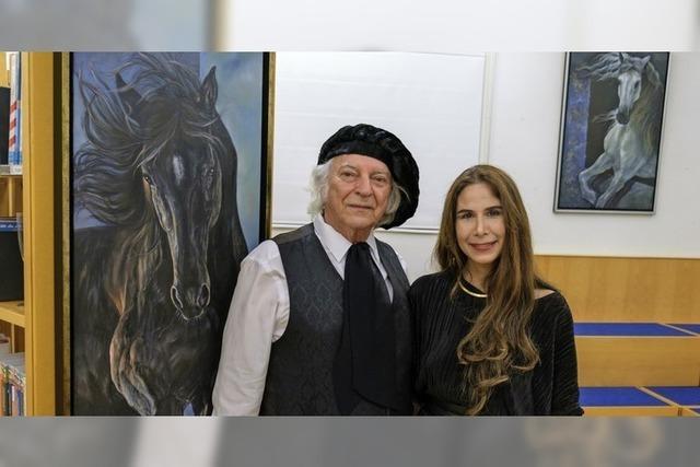 Jedes Pferd blickt durch die Augen der Künstlerin