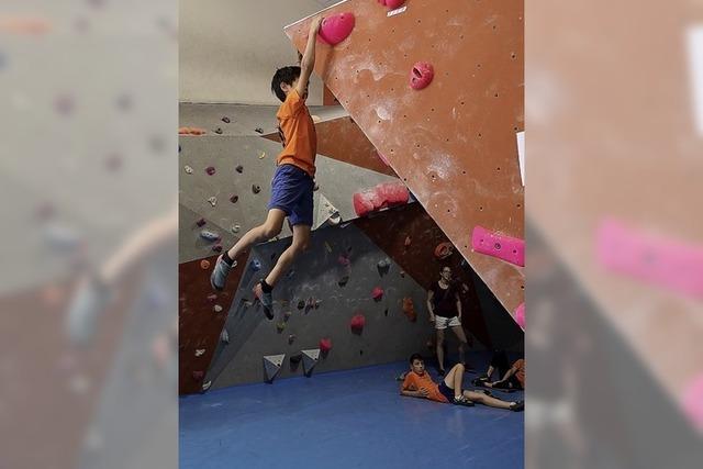 90 junge Kletterer gingen hoch hinaus