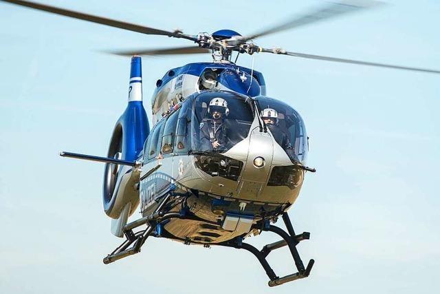 Polizeieinsatz mit Hubschrauber in Lörrach nach Körperverletzung
