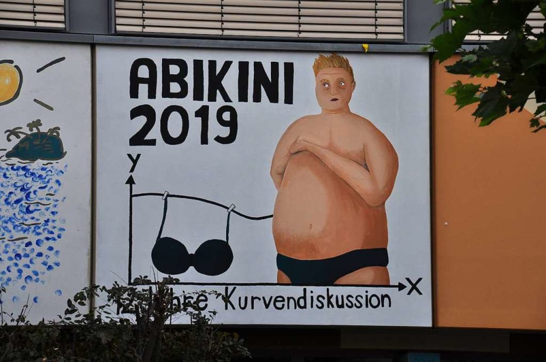 "ABIkini 2019 – 12 Jahre Kurvendiskussion"" ist das aktuelle Abi-Logo.  | Foto: Nicolai Kapitz"