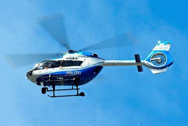 Polizei fasst in Lörrach 14-Jährigen nach Fahndung mit Hubschrauber