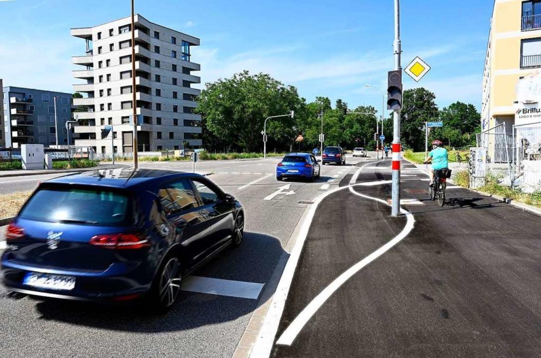 An der Einmündung der Eschholzstraße i...ad- und Fußweg zusammengeführt werden.  | Foto: Thomas Kunz
