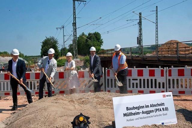 Der Ausbau der Rheintalstrecke zwischen Müllheim und Auggen könnte bis 2025 abgeschlossen sein