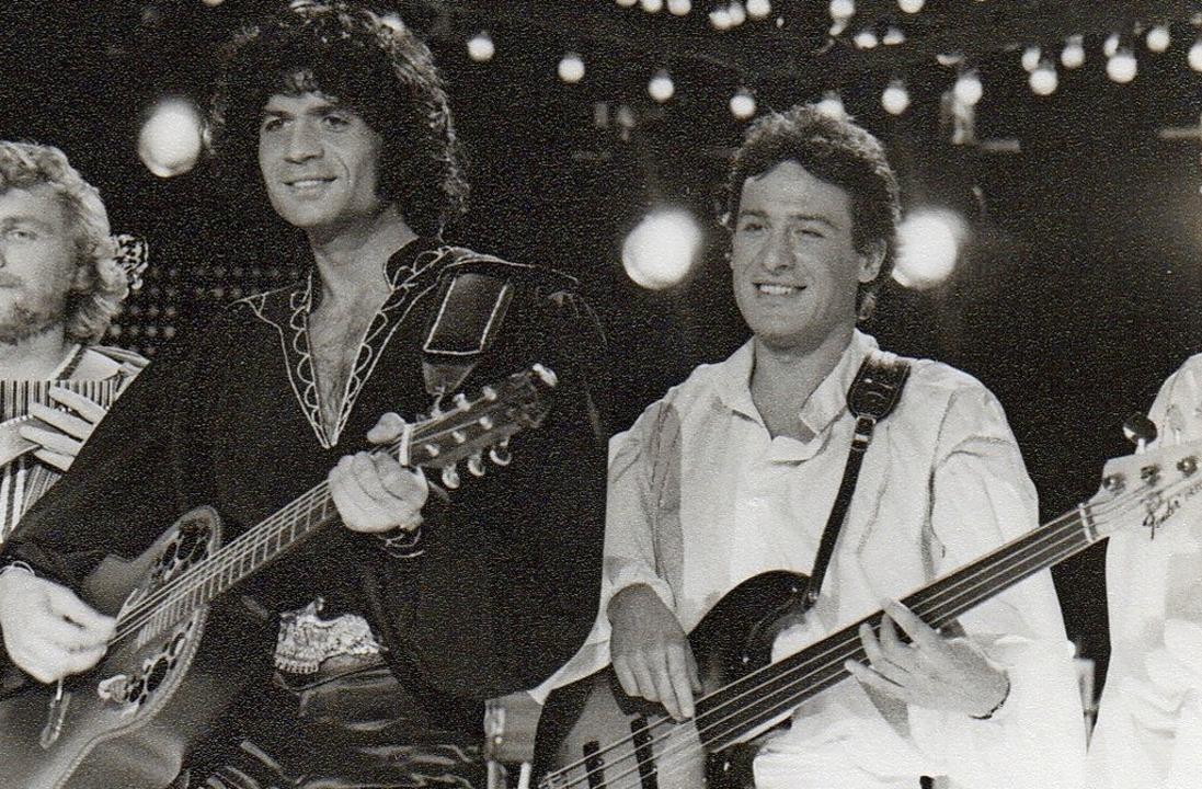 Jimmy Gottschalk (rechts) empfahl sich...sen Band er von 1980 bis 1982 spielte.  | Foto: privat
