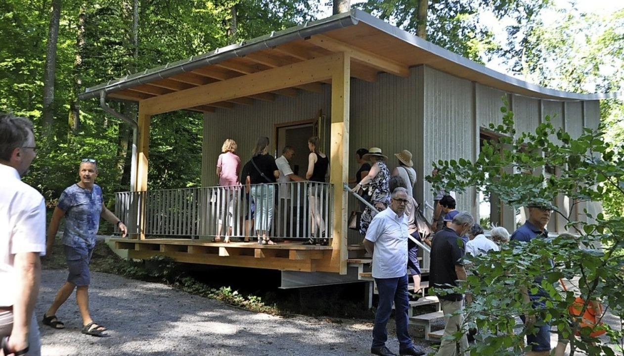 Der Abschiedsraum im Bestattungswald in Hohentengen  | Foto: suedkurier