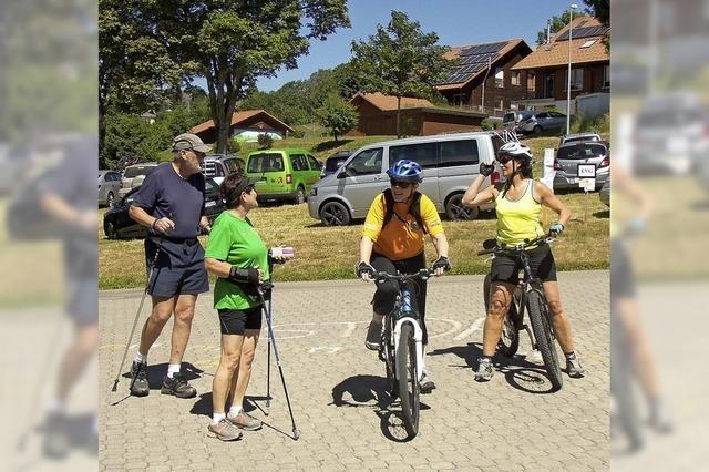 Mountainbiker und Walker gehen in Herrischried an den Start